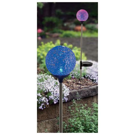 Solar Globe Lights Outdoor 6 Pk Of Mosaic Globe Solar Lights 228956 Solar Outdoor Lighting At Sportsman S Guide