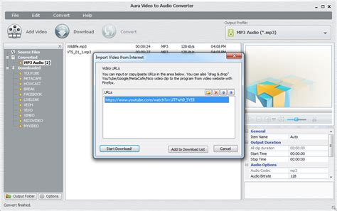 Aura Set Mp how to convert vob to mp3 using aura to audio converter