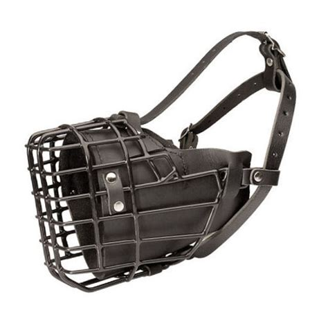 dogs and antifreeze muzzles for dogs with leather padding and antifreeze wire
