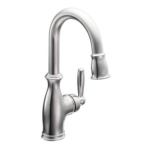 moen brantford pull down kitchen faucet stainless faucet com 5985srs in spot resist stainless by moen