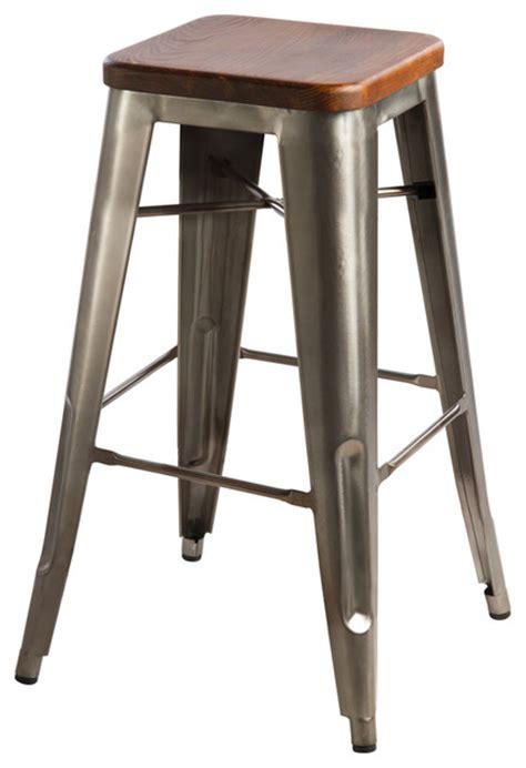 hooligan bar stool steel rustic wood industrial bar