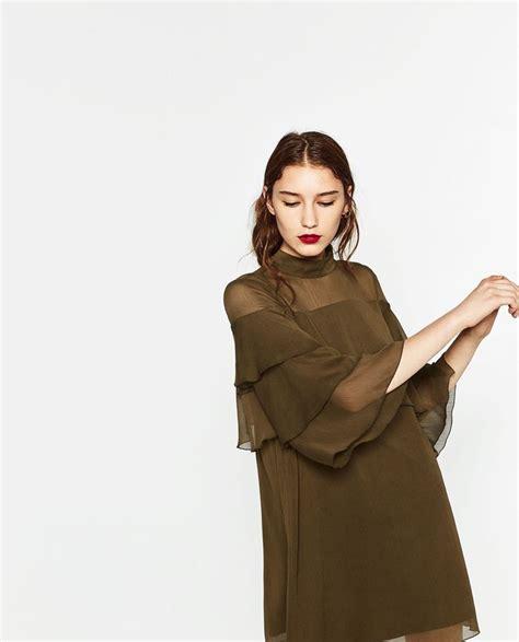 ZARA WOMAN SHORT FRILLED DRESS Style Pinterest Zara, Vestido curto e Curtas