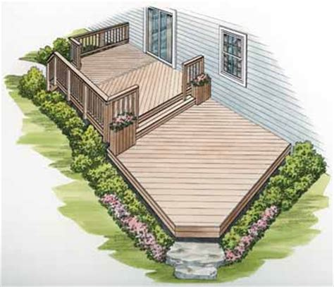 two level deck on deck plans two story deck