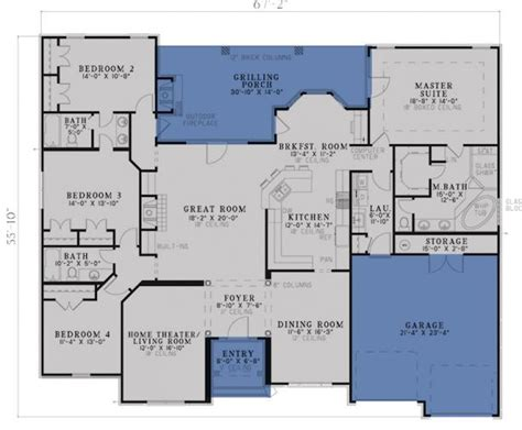 traditional house plans one story traditional plan 2 525 square feet 4 bedrooms 3