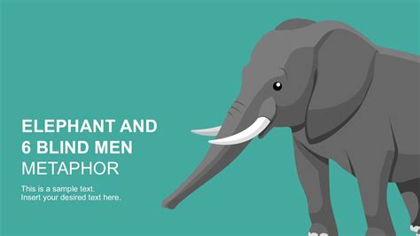 Six Blind Men And The Elephant Metaphor Elephant Powerpoint Template