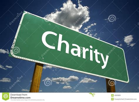 Give Manual Donations V1 1 1 charity road sign royalty free stock photos image 4563828