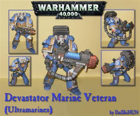 Warhammer Papercraft - warhammer 40k devastator marine paper craft gadgetsin