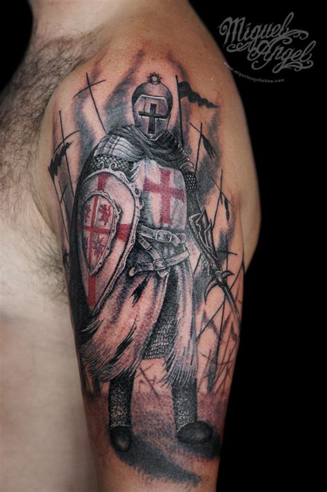 fluidr knight templar tattoo by miguel angel tattoo