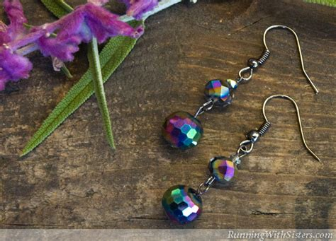 how to make earrings with how to make easy beaded drop earrings running with
