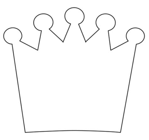 printable picture of a crown template princess crown clipart best