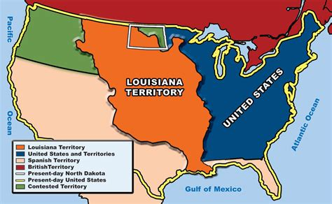 louisiana purchase map section 1 the louisiana purchase dakota studies