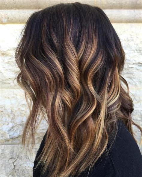 brunette hairstyles with caramel highlights 2017 caramel highlights for brown hair best hair color