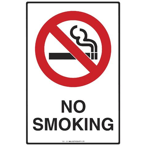 printable clear sticker paper officeworks mills display no smoking sign 225 x 300mm officeworks