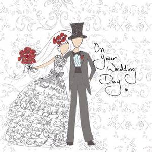 and groom wedding day card with gems by sabah designs notonthehighstreet