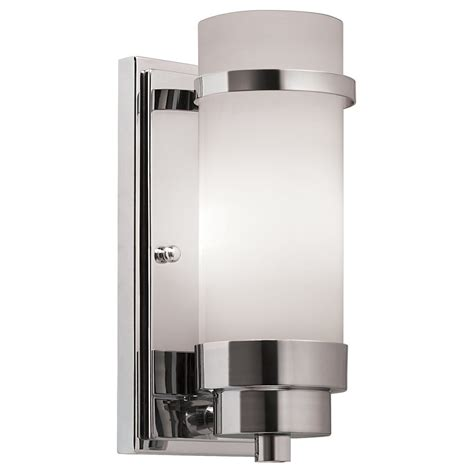 lowes bathroom sconces portfolio 6 1 2 in w 1 light chrome arm wall sconce lowe