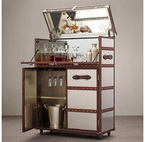 restoration hardware bar cabinet steamer trunk bar cabinet cabinets matttroy