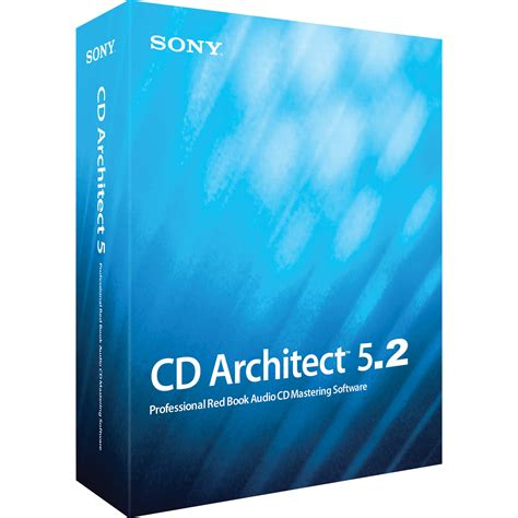 best mastering software sony cd architect 5 2 cd mastering software scdr5299esd b h