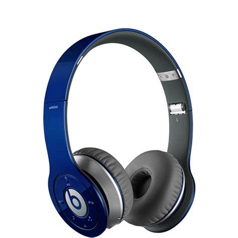 Headphone Beats Blue beats by dr dre hd wireless headphones including mic blue electronics zavvi