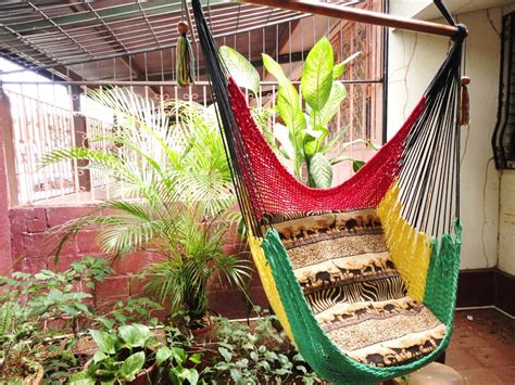 sitting hammock red yellow and green rasta sitting hammock hanging chair
