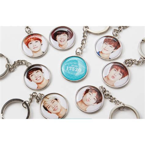 Official BTS 2nd Muster Zip Code 17520 Key Chain Ring   Bangtan Boys Goods   KPOP Mall USA