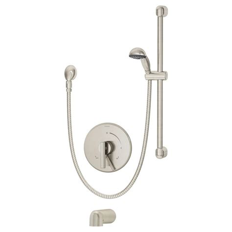 symmons s 2660 dia kitchen faucet symmons dia single handle 1 spray tub and shower faucet in