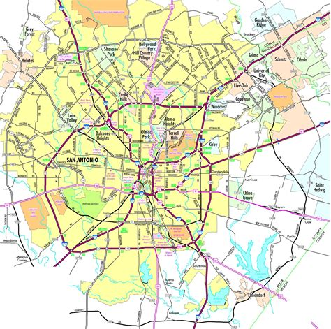 san antonio texas map san antonio road map