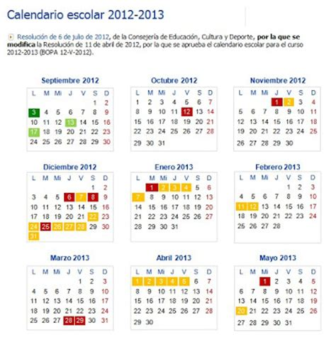 calendario baja 2012 2013 recursos educativos de primaria calendario escolar 2012