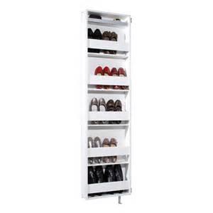 meuble 224 chaussures pivotant 10 paires avec miroir