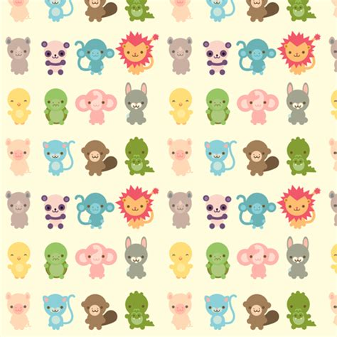 cute pattern material cute creatures fabric indescribble spoonflower