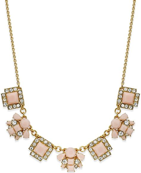 lyst kate spade new york gold tone stone frontal