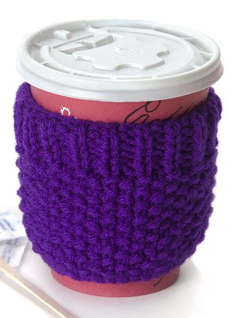 knitted cup cozy pattern beginner knitting patterns in the loop knitting