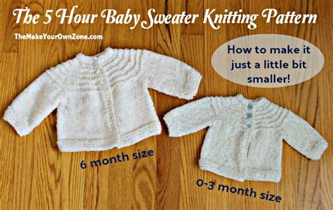 5 hour baby sweater knitting pattern free 5 hour knit baby sweater a smaller the make