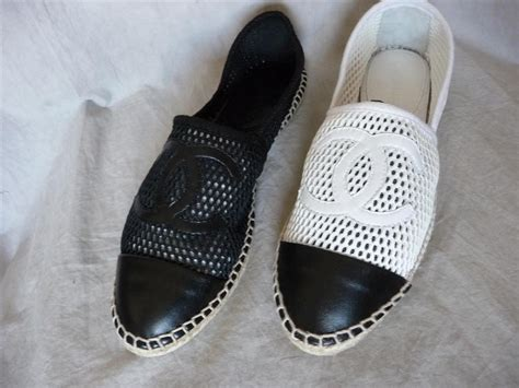 chanel flat shoes 2013 13s new 2013 chanel mesh canvas leather toe espadrilles
