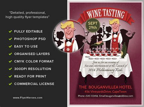Wine Tasting Flyer Template Flyerheroes Wine Tasting Event Flyer Template Free