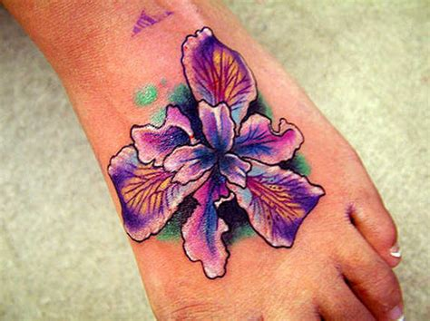 tattoo iris flower designs 51 glamorized foot flower tattoos and designs