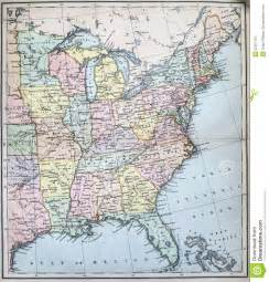 antique map of eastern states of usa stock image image