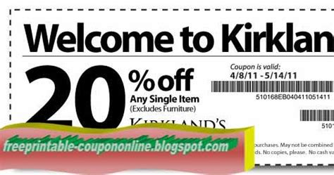 kirkland home decor coupons printable coupons 2018 kirklands coupons