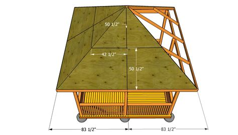 12x12 Hip Roof Plans How To Build A Gazebo Roof Myoutdoorplans Free