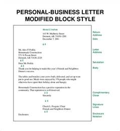 Business Letter Exle Block Style Business Letters Free