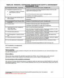 contractor safety plan template 34 management plan templates in pdf free premium templates