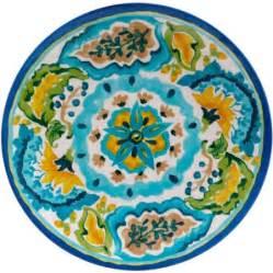 better homes and gardens melamine dinner plate aqua