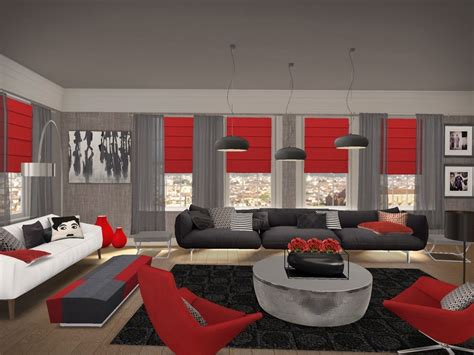 black and red rooms red black and grey living room ideas red black and gray