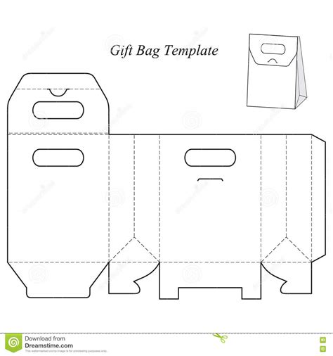 gift box template with lid stock vector illustration of