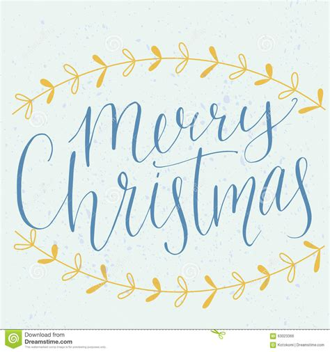 merry christmas type modern calligraphy   stock vector illustration  decoration