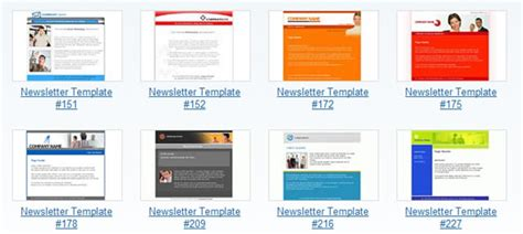 gmail email newsletter templates free