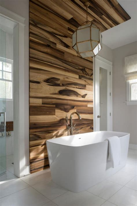 bathroom tile accent wall wood look tile ideas for every room in your house