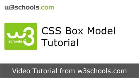 css tutorial container w3schools css box model tutorial youtube