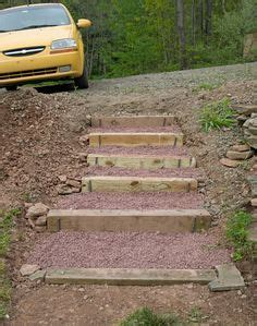 the 2 minute gardener photo landscape timber stairs building stairs in hillside google search