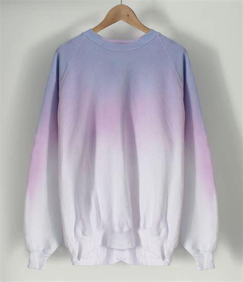 ANDCLOTHING ? Pastel Crayon Dip Dye Sweater