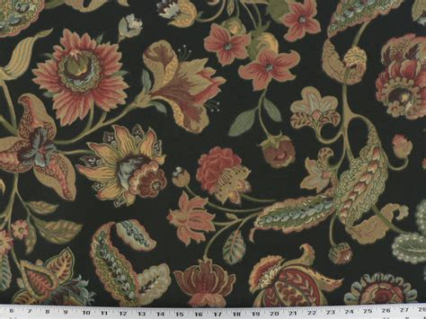 black floral upholstery fabric drapery upholstery fabric indoor outdoor vibrant